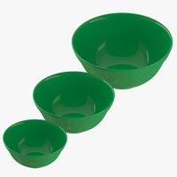 green bowls 3D