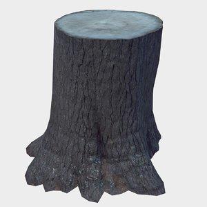 3D tree stump model