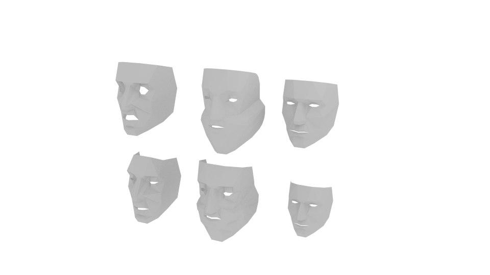 3D lowpolymask mask