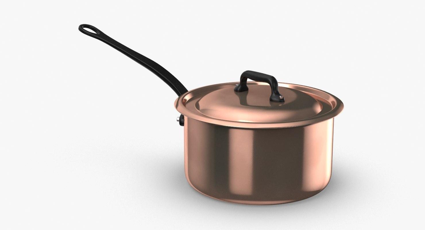 3D classical-cookware---5qt-saucepan model