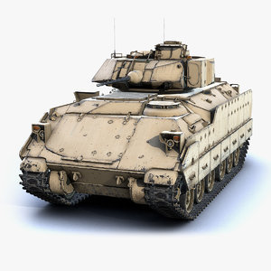 low-poly m2a2 bradley 3D model