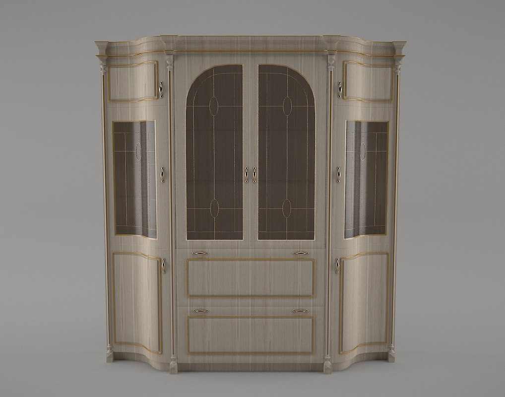 3D classic style sideboard