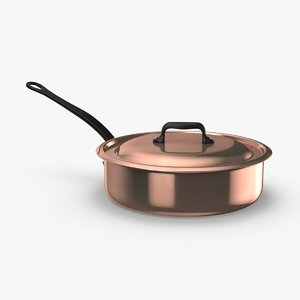 3D classical-cookware---saute-pan model