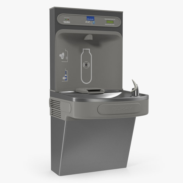 wall mounted water cooler 3D model