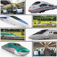 Speed Trains 3D Models Collection 2