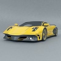 supercar concept wasp 3D model