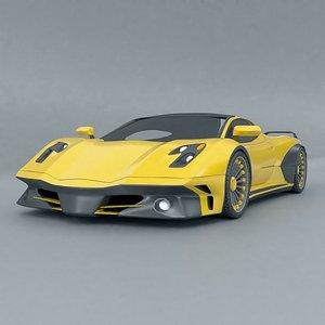 supercar concept wasp 3D model