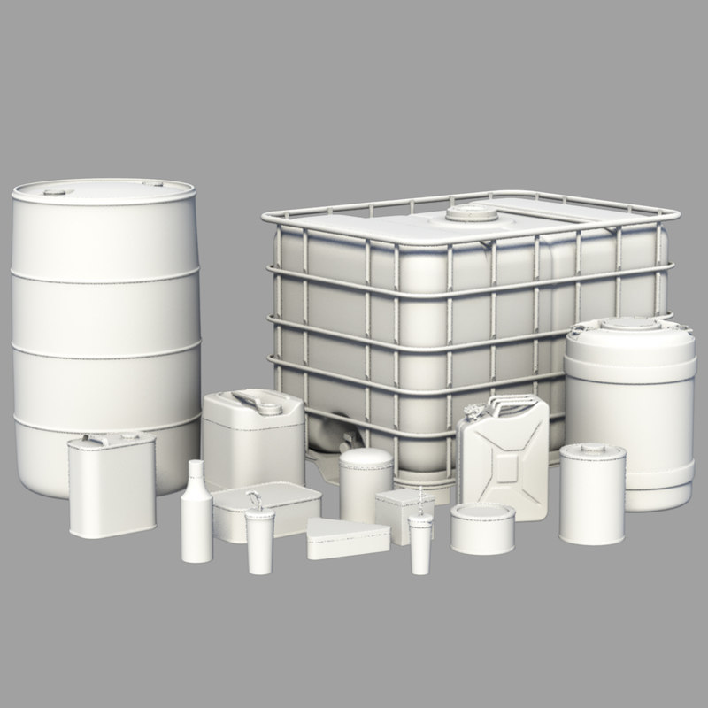 3D container metal water