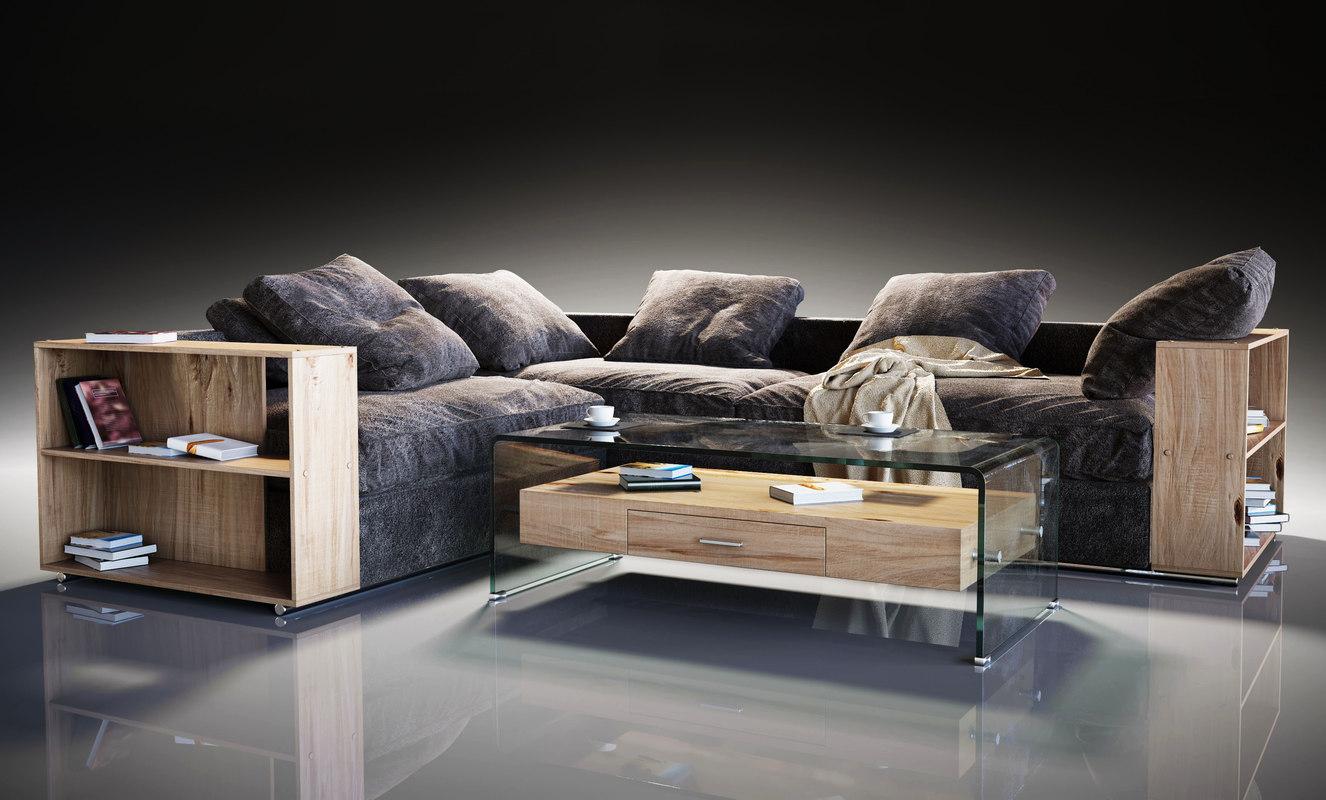 flexform groundpiece sofa 3D