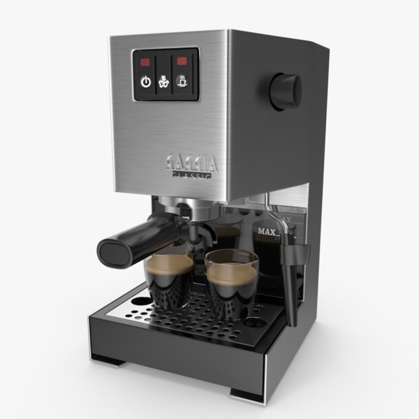 3D model gaggia classic espresso maker