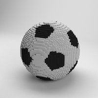3D voxel soccer ball