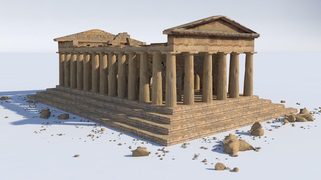 parthenon exterior 3D