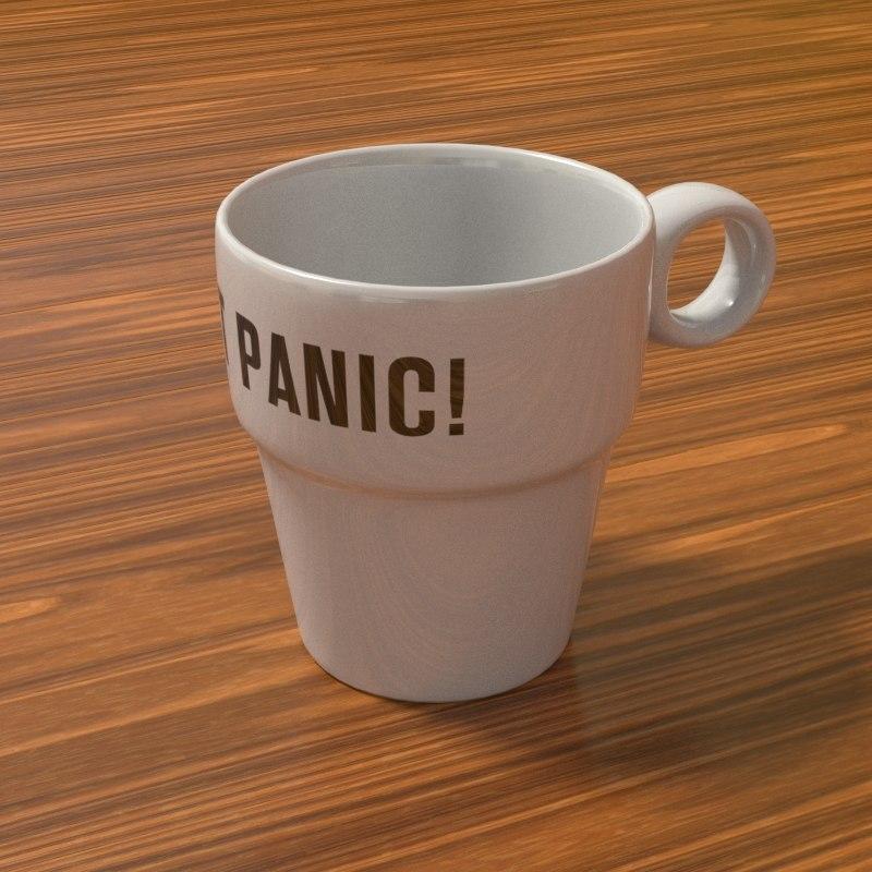 3D realistic coffee mug model