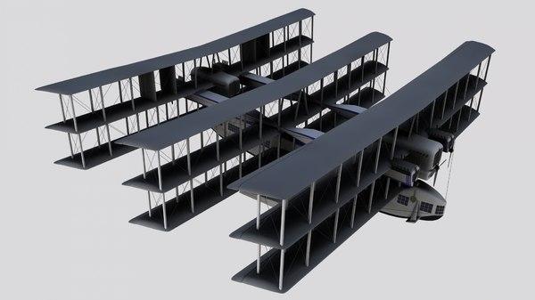 caproni ca 60 transaereo 3D model