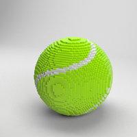 3D voxel tennis ball