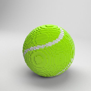 3D voxel tennis ball