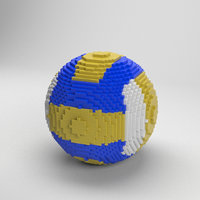 3D voxel volleyball ball model