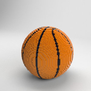 voxel basketball ball 3D model