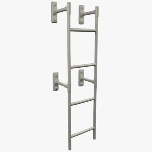 metal staircase ladder 3D