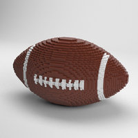 voxel football ball 3D model