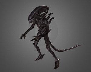3D scan alien xenomorph