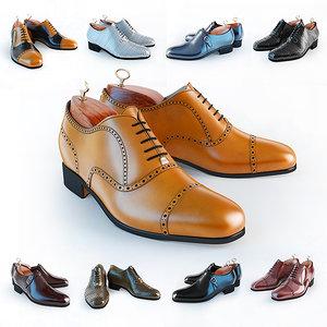 3D oxfords shoes model