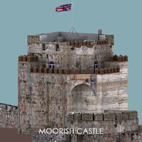 3D model moorish castle gibraltar -