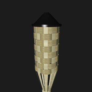 tiki torch 3D model