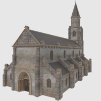 European Church - Low Poly