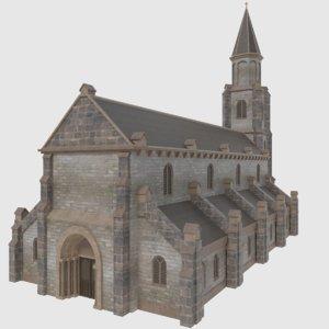 3D ready european church - model