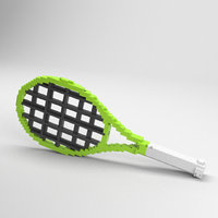 voxel tennis racket 3D