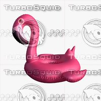 Inflatable Flamingo Pool Float 3D model