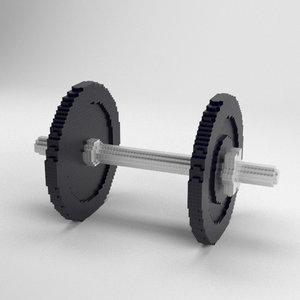 3D voxel dumbbells