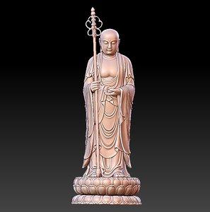 ksitigarbha bodhisattva 3D model