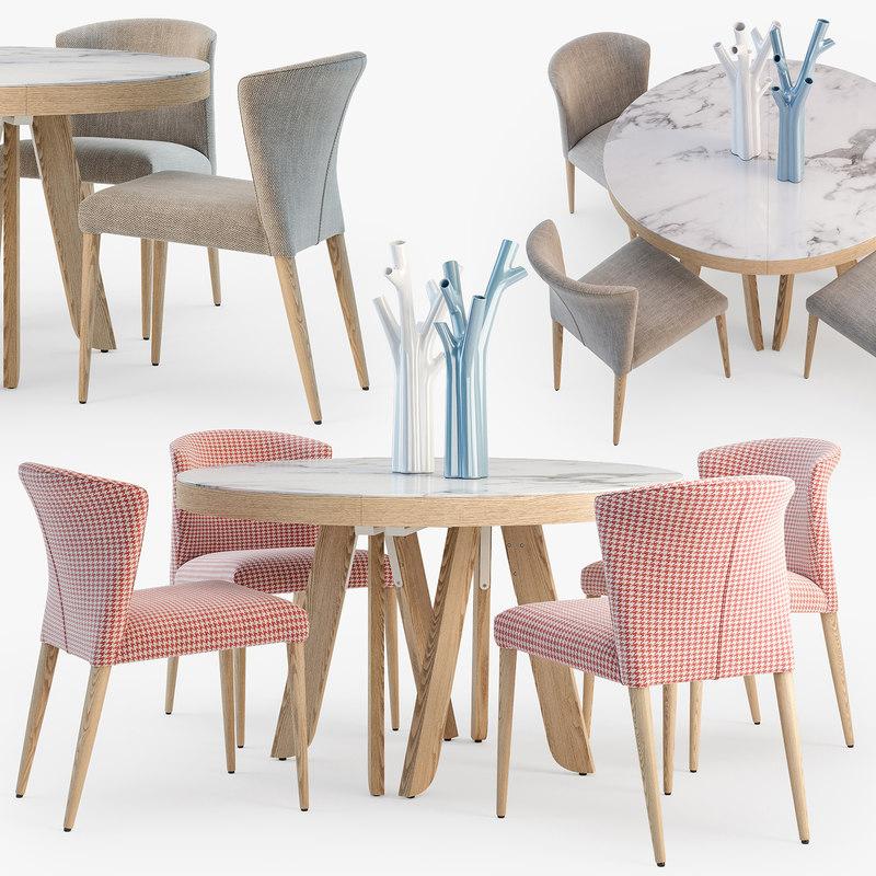 3D ligne roset satori table