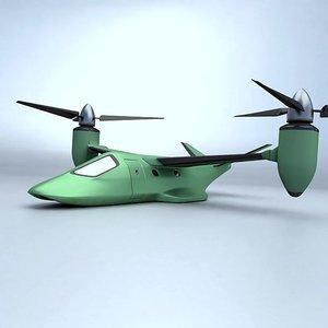 aircraft concept vtol 3D model