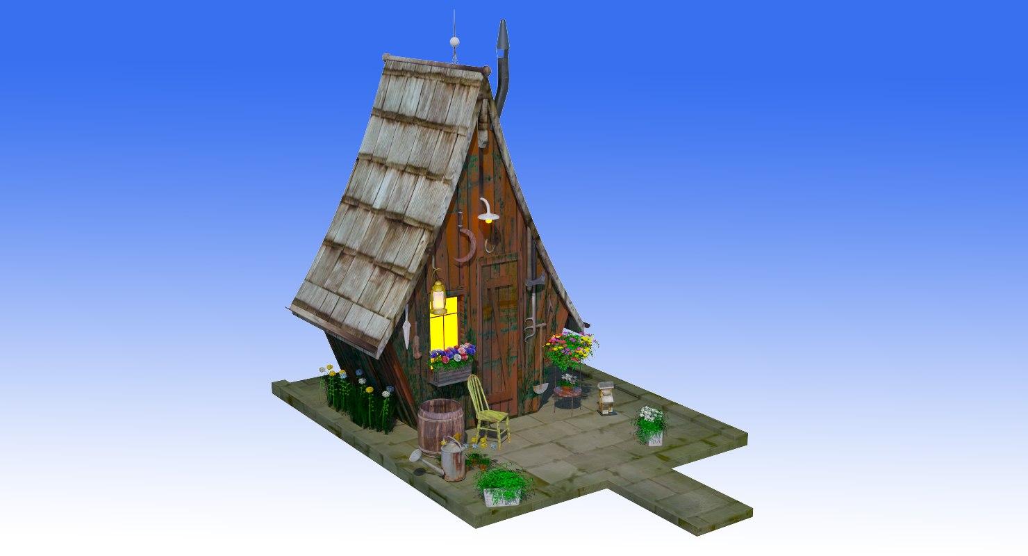 fancy hut model