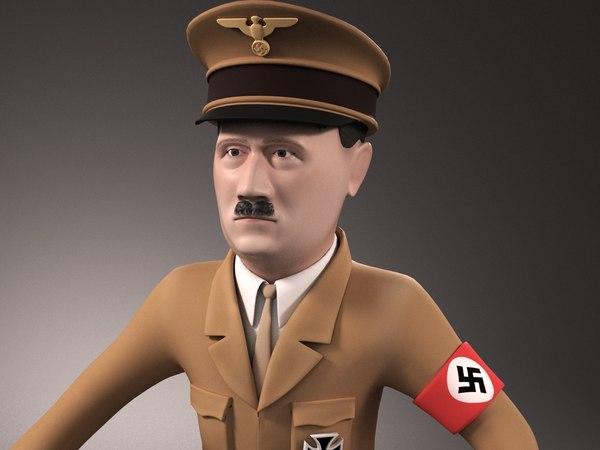 adolf hitler cartoon 3D model