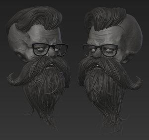 3D dead hipster model