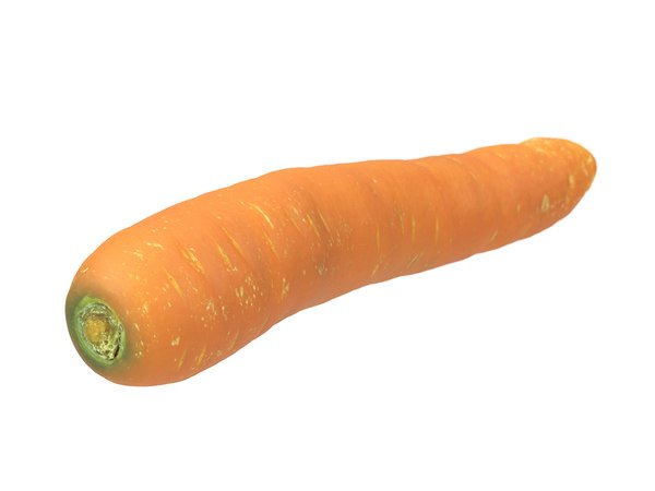 photorealistic scanned carrot 3D