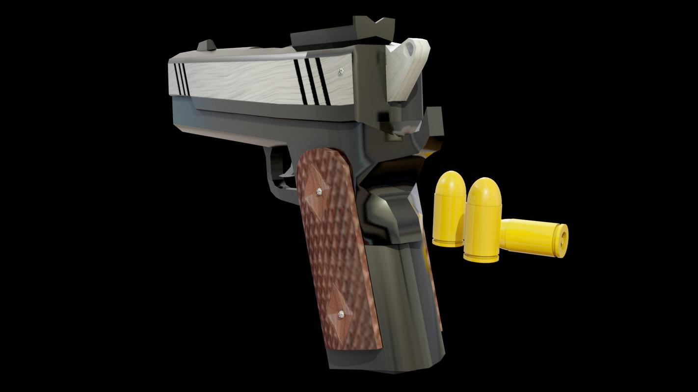 3D pistol colt government