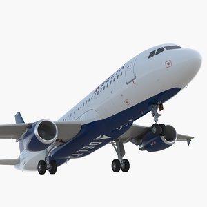 3D airbus a320 delta air lines model