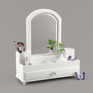 beauty storage mirror 3D model