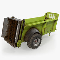 3D used manure spreader generic