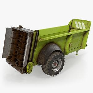 3D used manure spreader generic