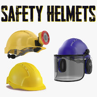 3D safety helmets