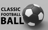 classic football ball 3D model