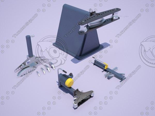 3D model tube benders pack