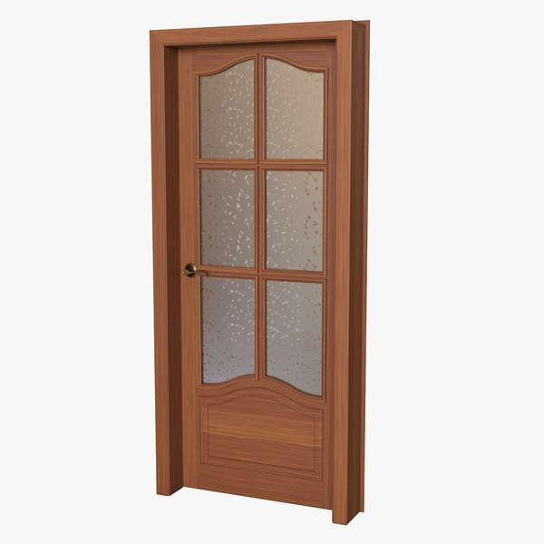 realistic wooden door 3D