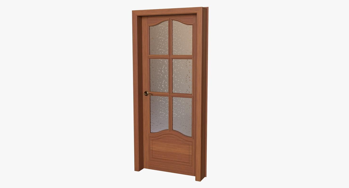 realistic wooden door 3D
